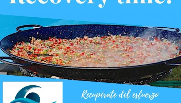 Pincho recovery de paella en la Travesía Costa Abanca Balarés 2019