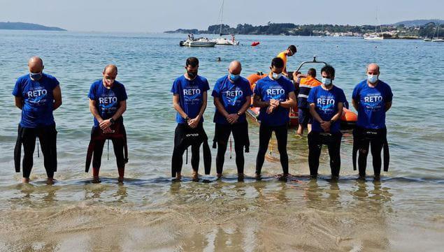 De A Coruña a Cabanas a nado por las víctimas del covid-19